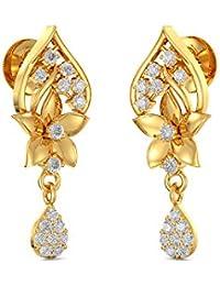 Joyalukkas 22k (916) Yellow Gold Drop Earrings for Girls