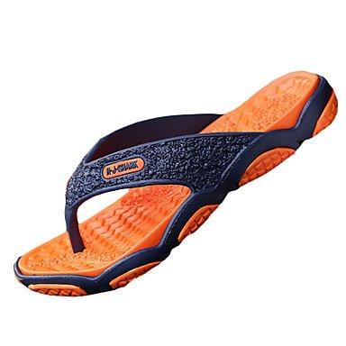Slippers & amp da uomo;Estate Flip-Flopss PU piano casuale HeelGreen / grigio / nero e rosso / Ora sandali US9.5 / EU42 / UK8.5 / CN43