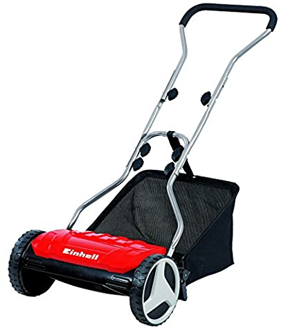 Einhell GE-HM 38 S-F Hand Push Lawnmower with 38 cm Cutting Width - Red