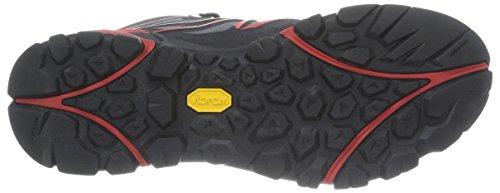 Merrell - Capra Mid Sport Gtx, Scarpe da escursionismo Uomo Grau (Light Grey/Red)
