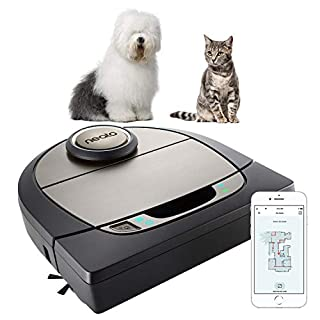 Neato Robotics D750, Cleaner Premium Pack, Corner Cleaning Robotic Vacuum with D-Shape + Exclusive Pet Accessories for Carpet and Hard Floors, App/Alexa Compatible, Silver, 61 W, 69 Decibeles (B07NH43JSX) | Amazon price tracker / tracking, Amazon price history charts, Amazon price watches, Amazon price drop alerts