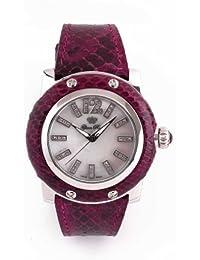 Glam Rock GR10024 - Reloj para mujeres, correa de cuero color morado
