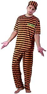 Reír Y Confeti - Ficpri002 - Disfraz Para Adultos - Prisionero de vestuario amarillo - Hombres - Tamaño Xl
