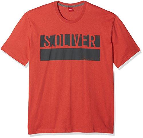 s.Oliver Big Size Herren T-Shirt Rot (Grenadine 3040)