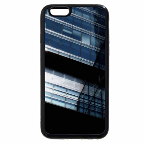 iPhone 6S / iPhone 6 Case (Black) Blue Glass Tower