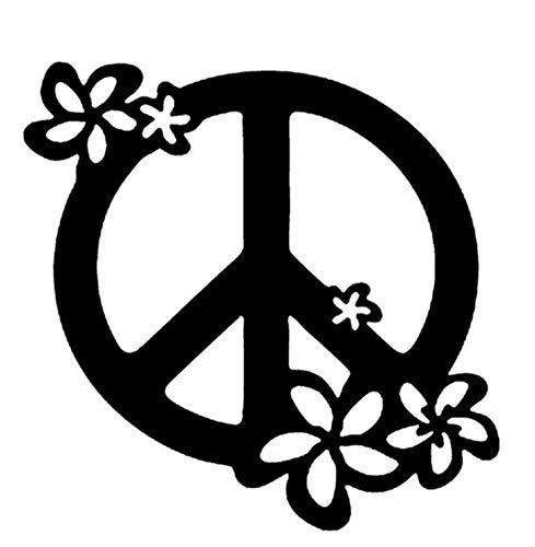 Autoaufkleber 13 * 13 CM Blume Kunst Grafiken Friedenszeichen Auto Aufkleber Aufkleber Wasserdichte Motorrad Aufkleber Auto Styling 2 Stück (Friedenszeichen-autoaufkleber)