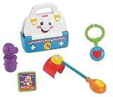 Mattel BGB57 - Fisher-Price Lernspaß Singender Arztkoffer mit Lernspaß- und Musikspaß-Modus