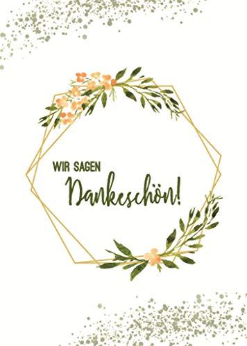 10 Dankeskarten, Dankeschön, Danksagung Hochzeit, Geburtstag, Taufe, Baby, Konfirmation, Jugendweihe