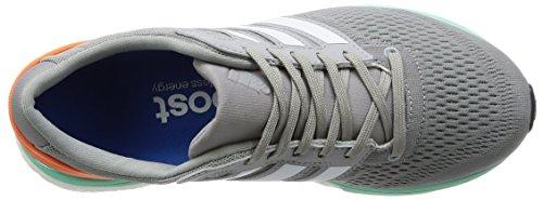 adidas Adizero Boston 6, Chaussures de Running Entrainement Femme Gris (Mid Grey/Ftwr White/Easy Orange)