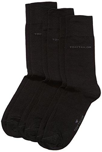 TOM TAILOR Herren Socke 3 er Pack 9003 / TOM TAILOR men basic socks 3 pack, Gr. 39-42, Schwarz (black - 610) -
