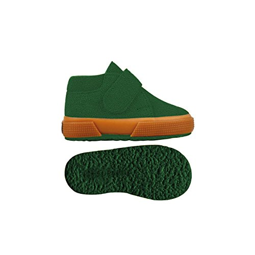 Superga S001NW0 2174-BSUJ, Chaussures montantes mixte enfant Green Hill