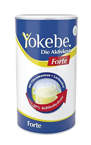 Leben Vanille Vitamine (Yokebe forte Diät Shake zum schnelleren Abnehmen, 30% weniger Kalorien, Laktosefrei, 10x Mahlzeitersatz als Pulver mit hochwertigen Proteinen, mit essentiellen Vitaminen und Spurenelementen)
