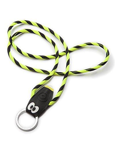 BUGS LIGHT stylischer Schlüsselanhänger mit LED Taschenlampe, Schlüsselband, Lanyard in 3 Farben erhältlich - (Made In Portugal) Gelb/Schwarz ()
