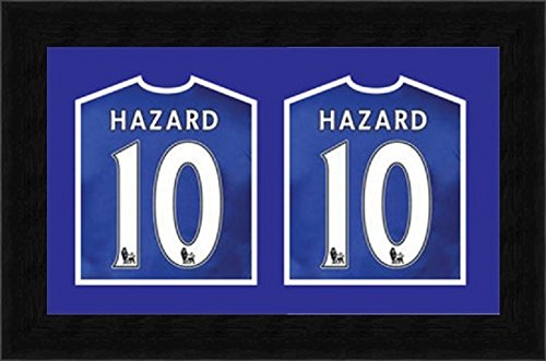Kwik picture framing dual frame per mostrare 2 firmati cricket, calcio, rugby, maglietta per 2 camicie, perfetto per camicie firmate, con passepartout blu, polcore, nero, 46