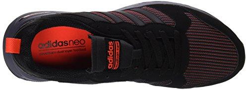 adidas Cloudfoam Super Flyer, chaussure de sport homme noir–(negbas/negbas/rojsol)