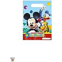 Amscan Perona - Pack 6 bolsas fiesta, Mickey Mouse (50867)