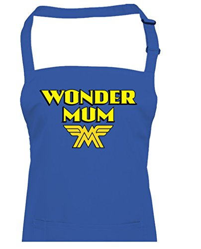 WONDER MUM- Superhero Mother kitchen chef women's ladies apron