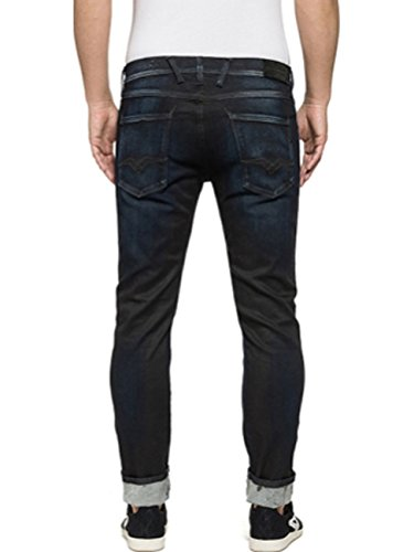 Replay Anbass, Jeans Homme, Anthracite Bleu