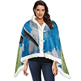 Golf Ball On Red Tee With Driver Against Green Fak Wrap Shawls For Women Shawls And Wraps 53x30 Inches With 3 Button For Sofa Outdoors Warm Wrap Shawl Womens Wearable Blanket