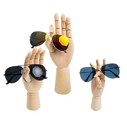 "Scoolr Wooden Articulated Left/Right Hand Men Women Wooden Hand Manikin for Art Drawing Figure Manikin Model 7"" /18CM (Left hand)"