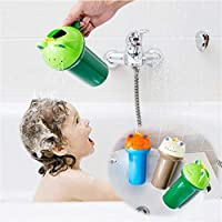 FULAISI Baby Bath Shower Toys, Baby Shampoo Rinse Cup to Wash Hair and Wash Out Shampoo by Protecting Infant Eyes - Kids Bathing Without TEARS, Random Color