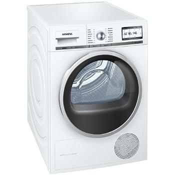 Siemens iQ800 WT47Y701 iSensoric Premium-Wärmepumpentrockner / A++ / 8 kg / Weiß / Selbstreinigender Kondensator / SoftDry-Trommelsystem / TFT-Display