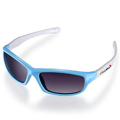 Aroncent Kinder Jungen Mädchen Studenten Sonnenbrille, Sportbrille Wayfarer Strahlenschutz...