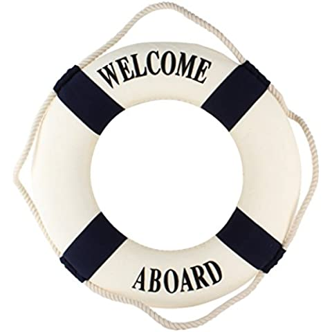 yazi Wall Hanging Decoration Life Ring Nautical Theme for Home