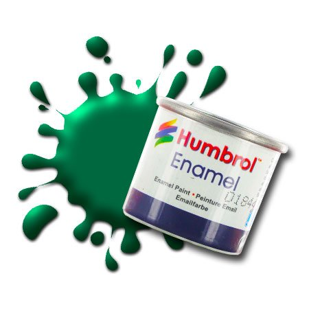 Humbrol AG9155 n. 1 Tinlet Vernice Smaltata 14 ml, 120, Colore: Verde Opaco