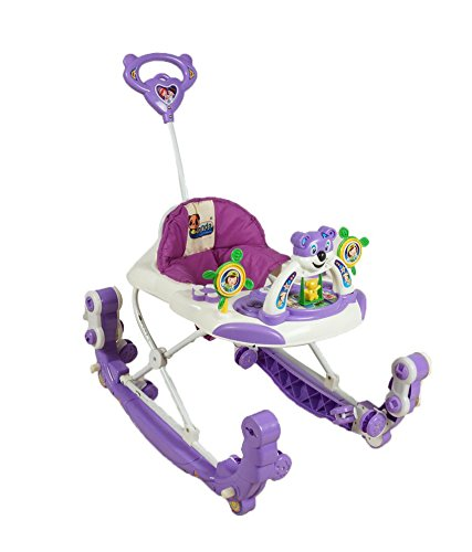 Ehomekart Baby Panda Walker cum Kids Rocker with Parental Handle - Purple  available at amazon for Rs.1679