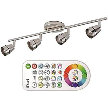 jedi lighting led ivory brushed nickle idual 345 lm 4 l und fernbedienung 5420060413032 amazon. Black Bedroom Furniture Sets. Home Design Ideas