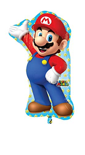 Amscan-3201001, juego de decoración Super Mario Super forma, dimensiones: 22x 83,8cm