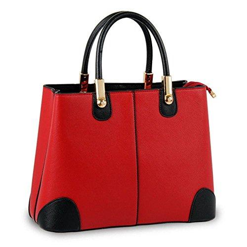 Koson-Man-Borsa Vintage da donna, borsetta per impugnatura, rosso (Rosso) - KMUKHB351