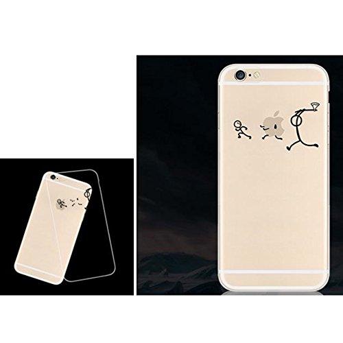 Lustig Hülle Cover for Apple iPhone 5 5s SE Handyhülle, Aohro Transparent Weich TPU Silikon Schutzhülle Bumper Case mit Cartoon Muster + Eingabestift + Staubstecker, Papierflieger Verfolgung