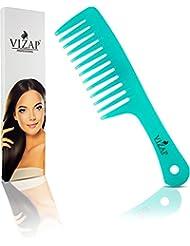 Professioneller Haarkamm von VIZAP®, Griffkamm ist Hitzebeständig und Antistatisch, Bruchfester Kamm mit extra breiten Zinken für jedes Haar– Ideal geeignet für Frauen und Männer