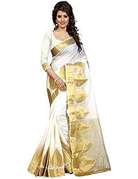 Stutti Fashion Cotton Silk Saree (Sfs1547_White_White)
