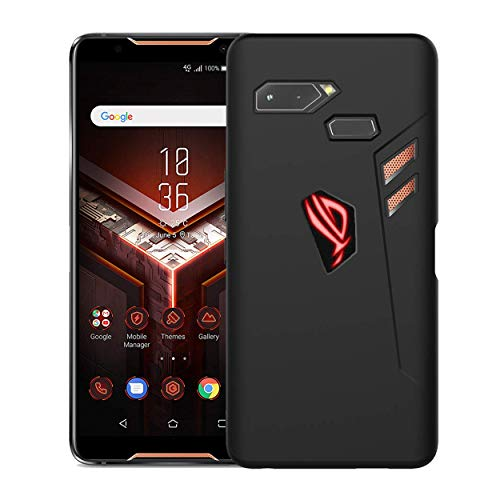 newzerol per asus rog phone case satinato [slim-fit] [anti-graffio] [assorbimento urti] rgb logo-apertura nero custodia in gel tpu morbido mate cover per asus rog phone1 -nero