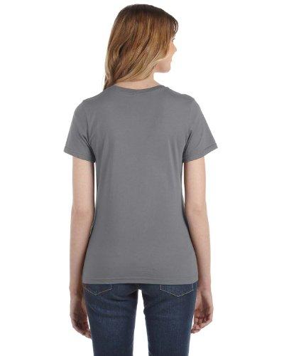 Anvil Damen T-Shirt, leicht tailliert grau - Storm Grey