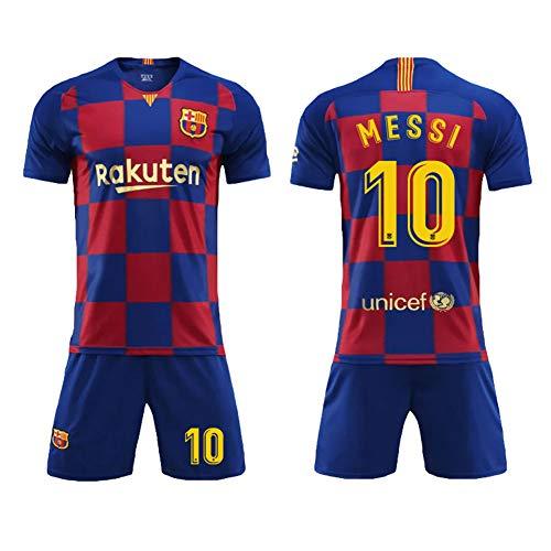 Barcelona zu Hause, Trikot im Fußballanzug, Barcelona 10 Messi 9 Suarez, Sportfußballanzug, Kinder/Erwachsene