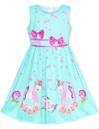 Girls Dress Purple Rose Flower Double Bow Tie Party Kids Sundress Size 4-12  Years 2313adb7b819