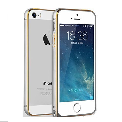 Ae Mobile AccessorizeCircular Arc Shape Metal Bumper Case For Apple iPhone 6 SILVER  available at amazon for Rs.195