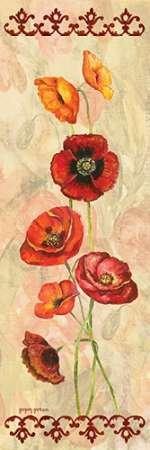 Scarlet Poppies I Von Gorham, Gregory Kunstdruck auf Leinwand - Klein (15 x 46 cms )