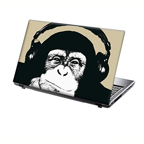 TaylorHe Folie Sticker Skin Vinyl Aufkleber mit bunten Mustern für 13-14 Zoll (34cm x 23,5cm) Laptop Skin Schimpanse, lustig
