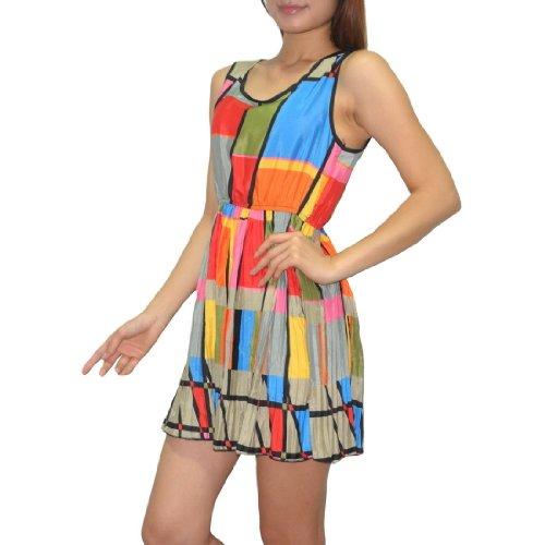 Damen Thai exotic sexy sleeveless fitted tank dress / mini dress Mehrfarbig