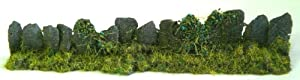 Javis Slab Slate Wall with Foliage - For Model Railway, War Gaming, Dioramas etc.