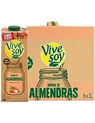 Vivesoy Leche de Almendras - Paquete de 6 x 1000 ml - Total: 6000 ml