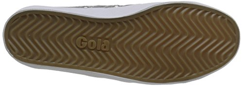 Gola Coaster Metallic, Baskets Basses Femme, Silver/Silver Argent (Silver/silver)