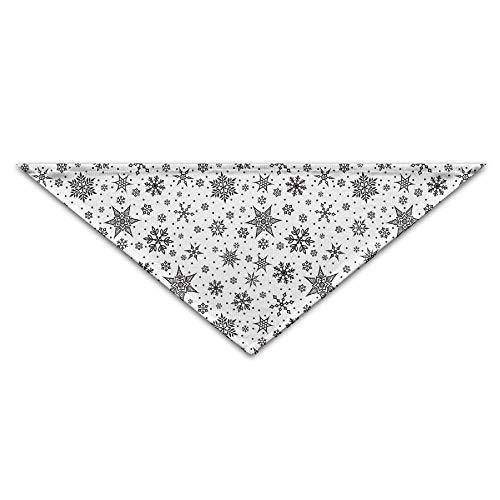 dfegyfr Snowflake Icon Triangle Pet Scarf Dog Bandana Pet Collars for Dog Cat - Birthday