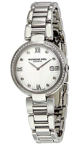 Raymond Weil Shine Stainless Steel Quartz White Mother-of-Pearl Sunburst Women's Watch 1600-STS-00995