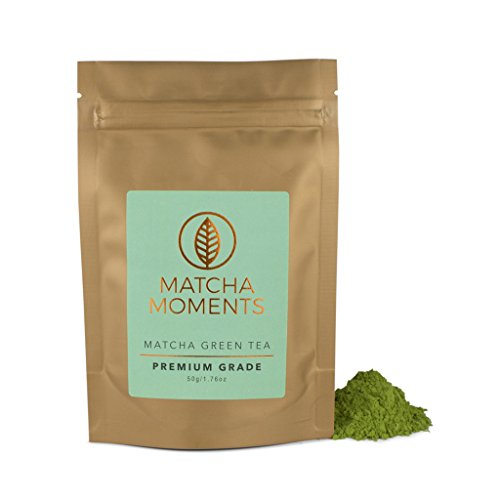 Matcha Green Tea Powder - Organic Japanese Teas for Detox & Boosting Energy - Fair & Sustainable, Single Source Harvest, Farm to Cup Superfood from Japan - Premium Grade 30g - Makes 30 Cups (50 grams)